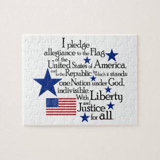 Puzzle Je mets en gage l'allégeance au drapeau