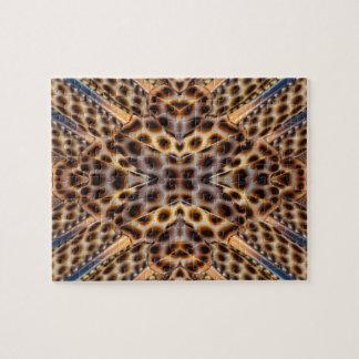 Puzzle Kaléidoscope de plume de faisan de Brown