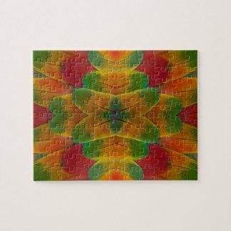 Puzzle Kaléidoscope de plume de perroquet d'ara