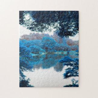 Puzzle La couleur bleue a effectué la nature fraîche et