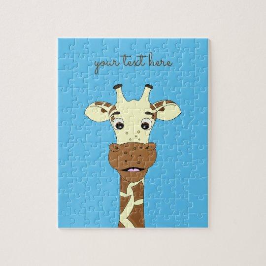 Puzzle La coutume bleue de bande dessinée drôle de girafe