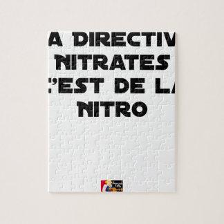 Puzzle La Directive Nitrates, c'est de la Nitro - Jeux de