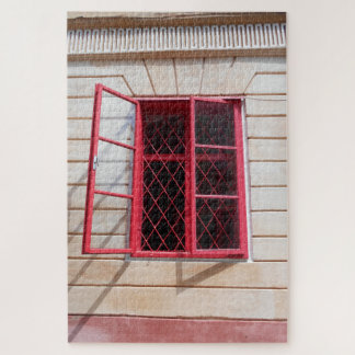 Puzzle La fenêtre rouge