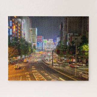 Puzzle La nuit de Tokyo Japon allume la casse-tête