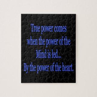 Puzzle La puissance vraie vient quand…