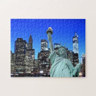 Puzzle La statue de la liberté et de l'horizon de NYC