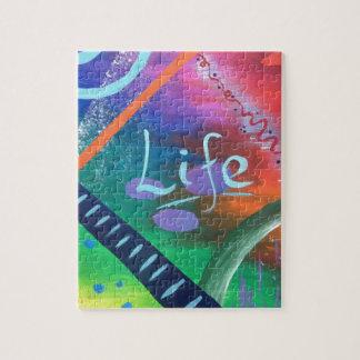 Puzzle La VIE - beauté chaotique colorée !