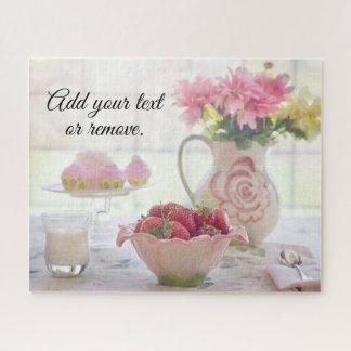 Puzzle La vie toujours : fraises dans une cuvette, petits
