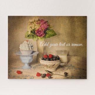 Puzzle La vie toujours : myrtilles, fraises, petit