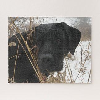 Puzzle Labrador noir - chasse de fin de saison