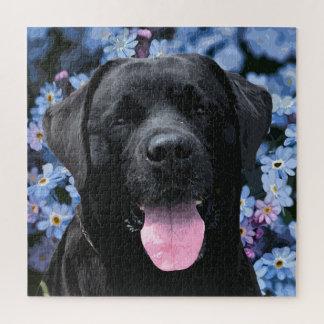 Puzzle Labrador noir - oubliez-moi pas