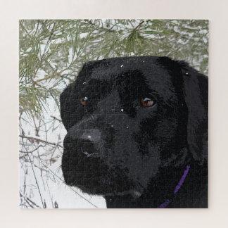 Puzzle Labrador noir - pins de scintillement