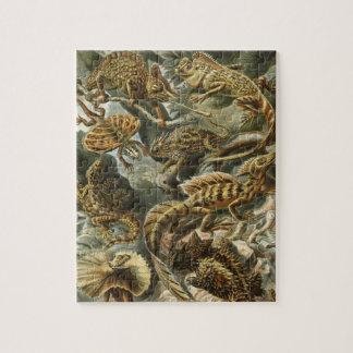 Puzzle Lacertilia par les animaux vintages de lézard