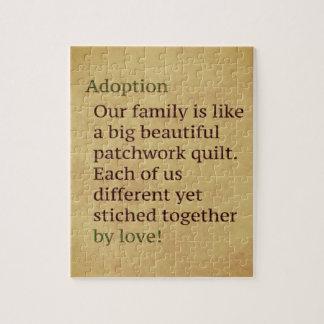 Puzzle L'adoption bronzage est un cadeau d'adoption de