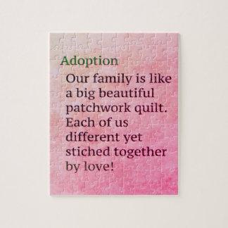 Puzzle L'adoption rose est un cadeau d'adoption de