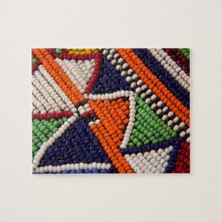 Puzzle L'Afrique, Kenya. Perles de tribal de Maasai