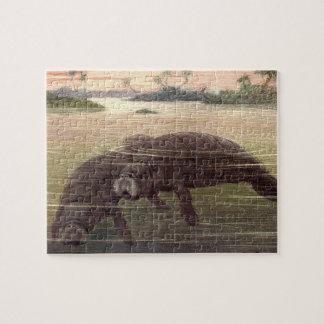 Puzzle Lamantins vintages ou vaches marines, mammifères