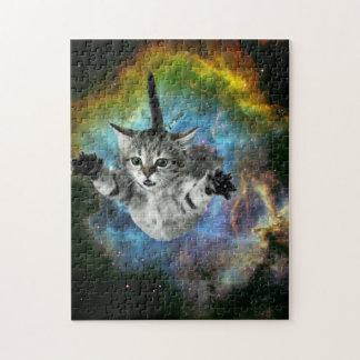 Puzzle Lancement de chaton d'univers de chat de galaxie