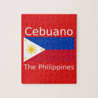 Puzzle Langue de Cebuano et drapeau de Philippines