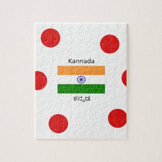 Puzzle Langue de Kannada et conception indienne de