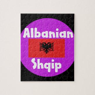 Puzzle Langue de l'Albanie et conception de drapeau