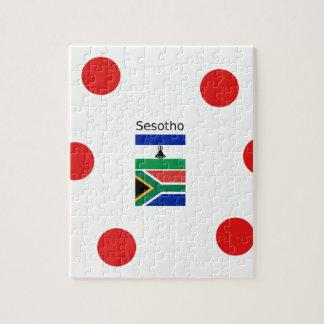 Puzzle Langue de Sesotho et drapeaux du Lesotho/d'Afrique