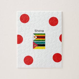 Puzzle Langue de Shona et drapeaux du Zimbabwe et de la