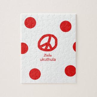 Puzzle Langue de zoulou et conception de symbole de paix
