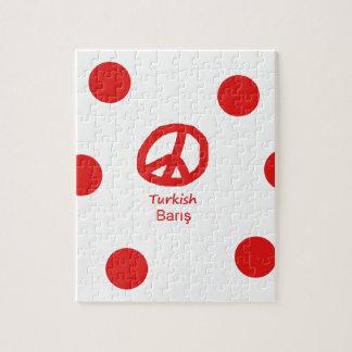 Puzzle Langue et conception turques de symbole de paix