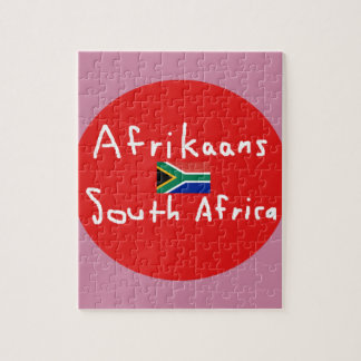 Puzzle Langue et drapeau de l'Afrique du Sud d'afrikaans