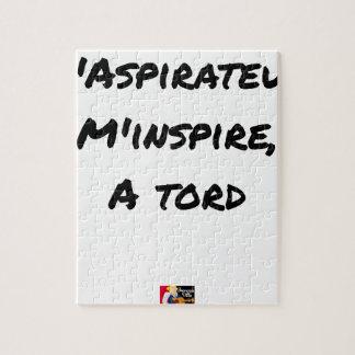Puzzle L'ASPIRATEUR M'INSPIRE À TORT - Jeux de mots