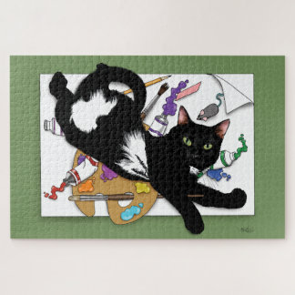 Puzzle Le chat de l'artiste
