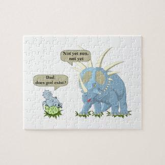 Puzzle Le dinosaure indique que Dieu n'existe pas