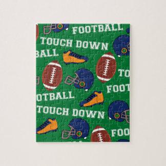 Puzzle Le football de SPORTS atterrissent le motif coloré