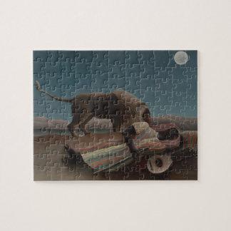 Puzzle Le gitan de sommeil par Henri Rousseau