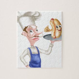 Puzzle Le hot dog de chef de bande dessinée manie