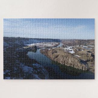 Puzzle Le jumeau tombe casse-tête de canyon de la rivière