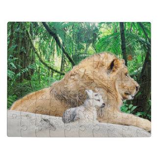 Puzzle Le lion se couche avec l'agneau