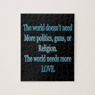 Puzzle Le monde a besoin de plus d'amour