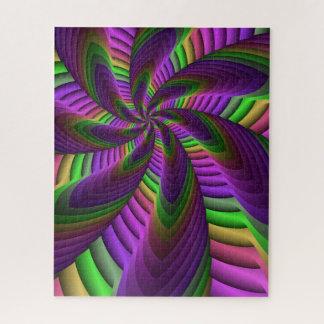 Puzzle Le néon colore le motif coloré fou instantané de