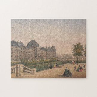 Puzzle Le palais de Tuileries, lithographie de Paris,