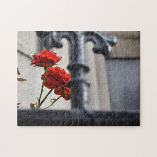 Puzzle Le rouge fleurit la photographie de New York City