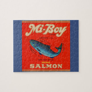 Puzzle le saumon de rose de MI-Garçon des années 1930