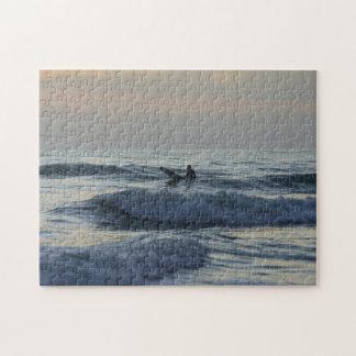 Puzzle Le surfer attend