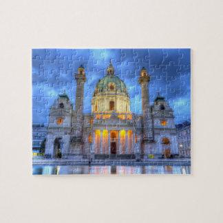 Puzzle L'église de Charles de saint à Vienne, Autriche