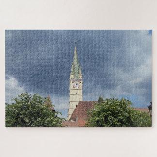 Puzzle L'église médiévale et le ciel bleu