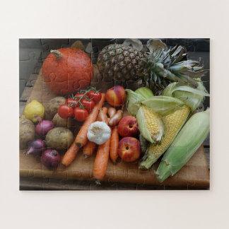 Puzzle Légumes et fruits de récolte de jardin