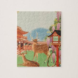 Puzzle Les années 1930 vintages Japon de voyage