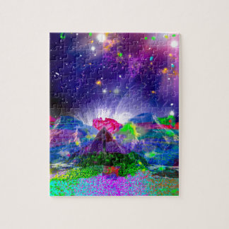 Puzzle Les couleurs et les étoiles allument la nuit