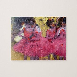 Puzzle Les danseurs roses, avant le ballet par Edgar